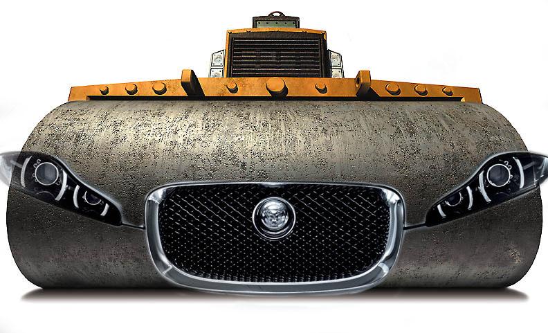 jaguar steamroller