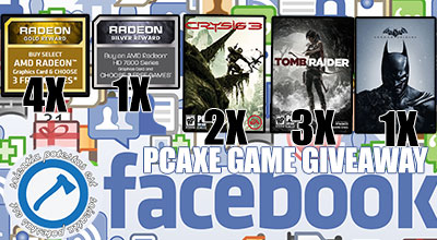 PCAXE Facebook giveaway