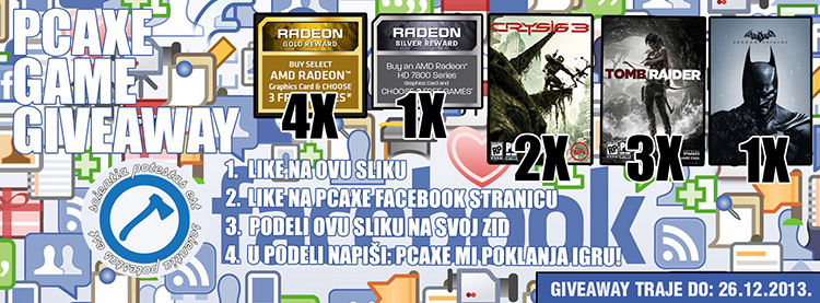 PCAXE Facebook giveaway 1