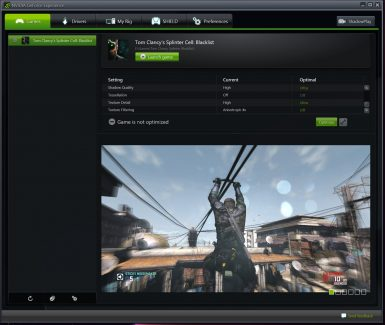 NVIDIA GEFORCE EXPERIENCE 002 T