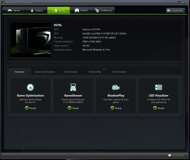 NVIDIA GEFORCE EXPERIENCE 003 T