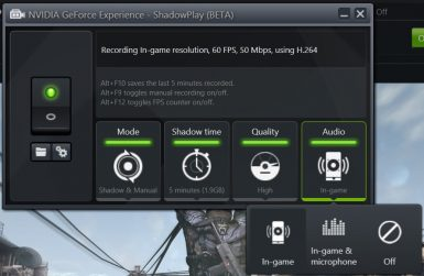 NVIDIA GEFORCE EXPERIENCE 019 T