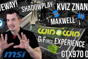 Kviz znanja-NVIDIA GeForce Experience Maxwell Giveaway